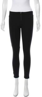 Alice + Olivia Low-Rise Zip-Accented Leggings