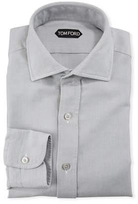 Tom Ford Men's Spread-Collar Oxford Dress Shirt