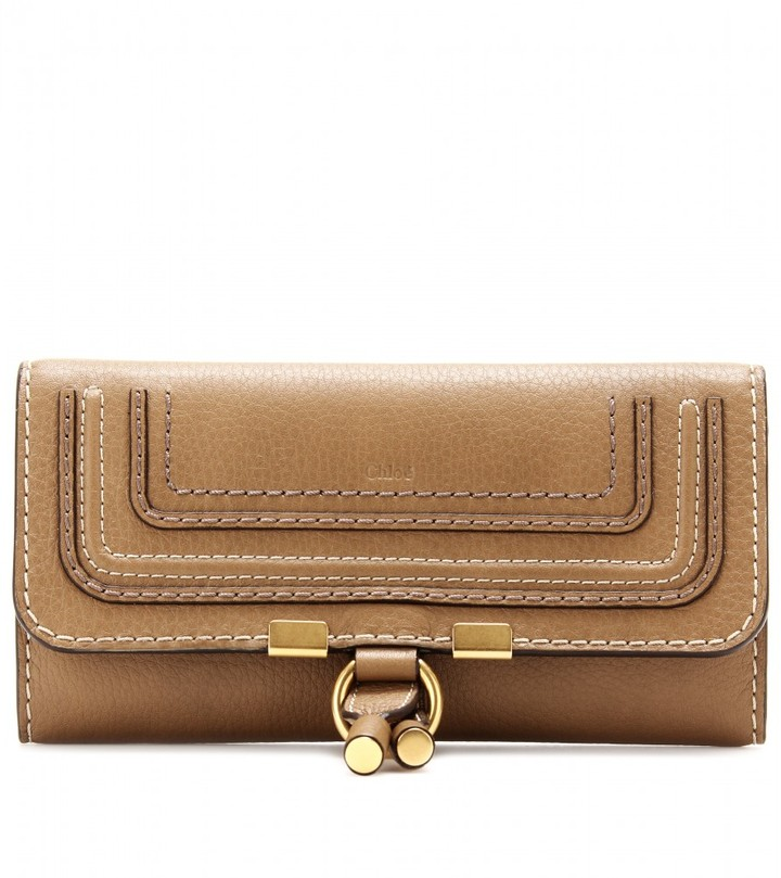 Chloé MARCIE FLAP-OVER LEATHER WALLET