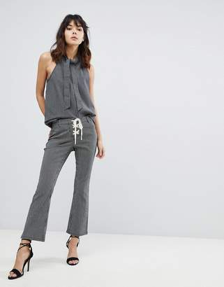 Current Air Lace Up Crop Kick Flare Pant
