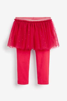 Next Girls Red Glitter Tutu And Leggings (3mths-7yrs) - Red