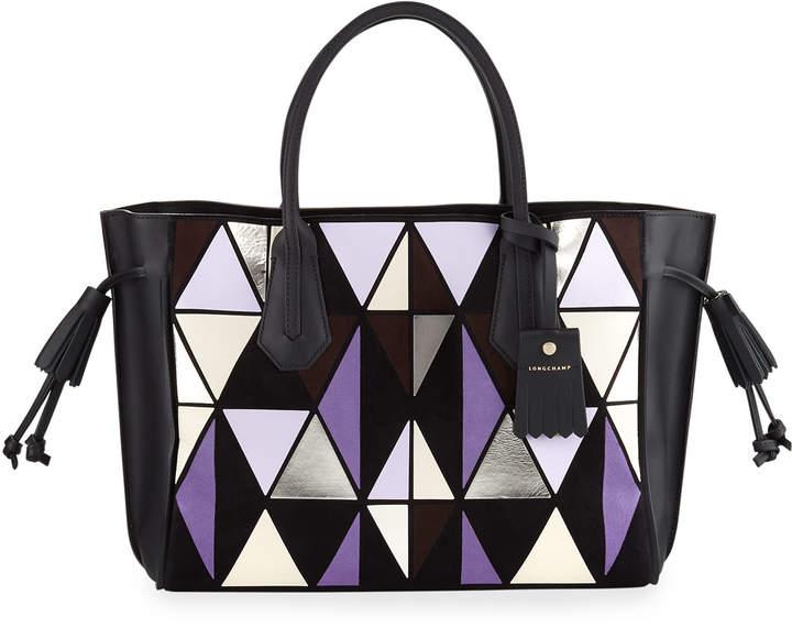 Longchamp Penelope Arty Medium Tote Bag - AMETHYST - STYLE