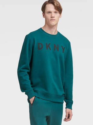 DKNY Logo Fleece Pullover