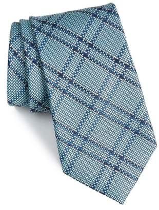 Nordstrom Tasker Plaid Silk & Cotton Tie