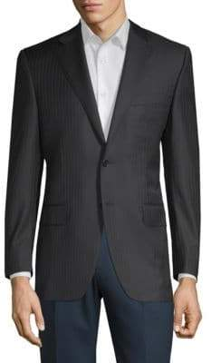 Canali Pinstripe Suit Jacket