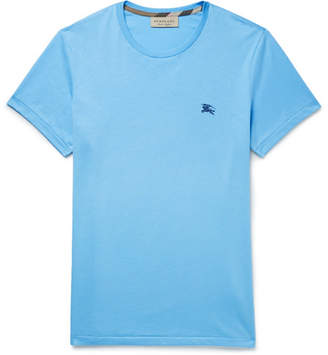 Burberry Cotton-Jersey T-Shirt - Light blue