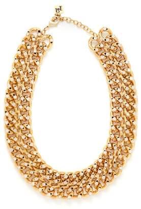 Rosantica By Michela Panero - Liberta Crystal Chain Choker Necklace - Womens - Gold