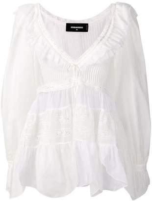 DSQUARED2 ruffled V-neck blouse