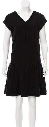 Chanel Knit Cap Sleeve Dress