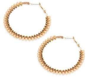Panacea Beaded Hoop Earrings