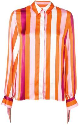 MSGM fringed striped shirt