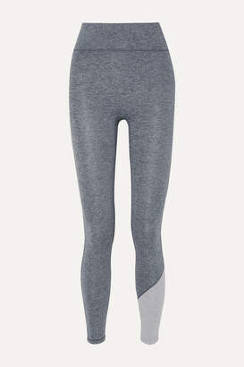 We/Me - Inversion Two-tone Stretch-jersey Leggings - Gray