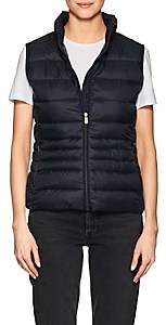 Save The Duck SAVE THE DUCK WOMEN'S CHANNEL-QUILTED TECH-FABRIC VEST-BLUE BLACK,146 SIZE XXS