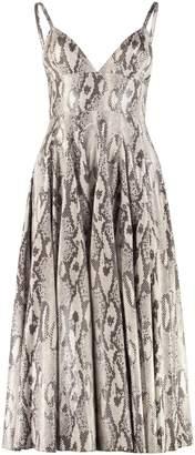 MSGM Python Print Faux Leather Dress
