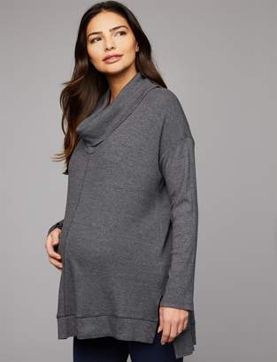 Splendid Pea Collection Cowl Thermal Maternity Shirt