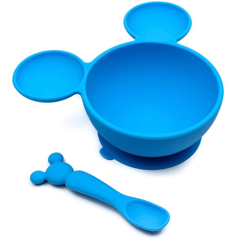 Bumkins Disney Silicone First Feeding Set - 2-Piece Set