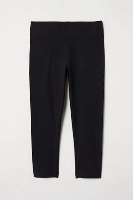 H&M Knee-length Leggings - Black