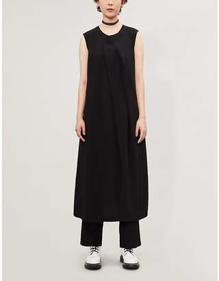 Y's Ys Asymmetric-Pleated Woven Dress