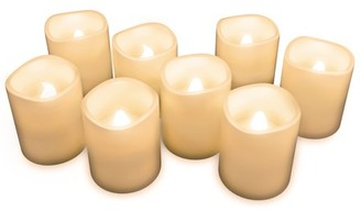 Flameless Candles, Battery Operated LED Bulb, 8-Piece Candle Set by Lavish Home - Perfect For Home, Wedding, Bridal Shower, Christmas Decor
