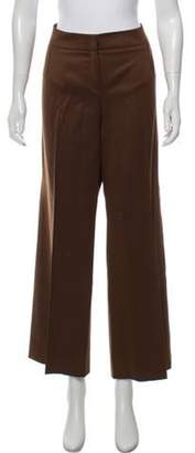 Oscar de la Renta Mid-Rise Wide-Leg Pants Brown Mid-Rise Wide-Leg Pants