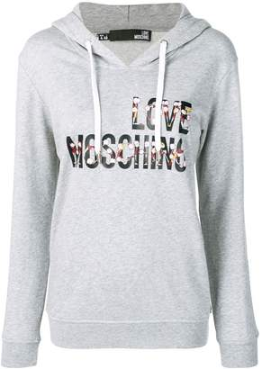 Love Moschino Cheerleader Doll logo hoodie