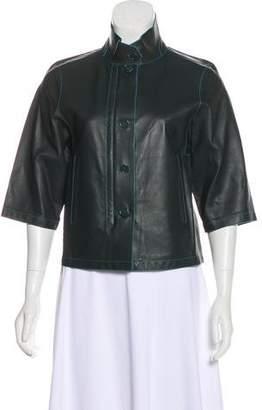 Loro Piana Three-Quarter Sleeve Leather Jacket