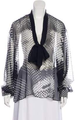 Anthony Vaccarello Silk Printed Blouse