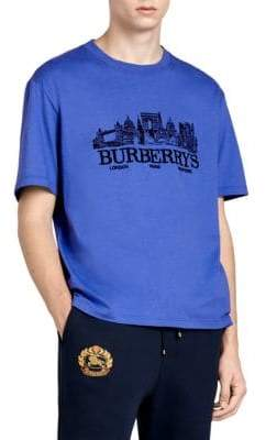 Burberry Embroidered Skyline T-Shirt