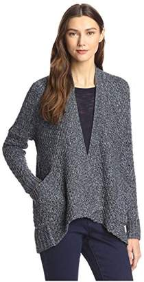 James & Erin Women's Tweed Open Cardigan Sweater