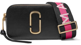 Marc Jacobs Snapshot Embellished Textured-leather Shoulder Bag - Black