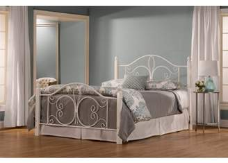 Hillsdale Furniture Ruby Twin Wood Post Bed with Bedframe