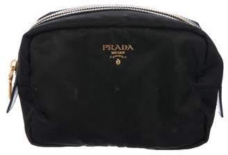 Prada Leather-Trimmed Tessuto Travel Kit