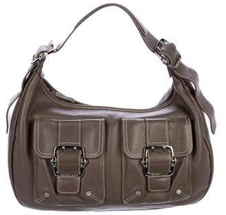 Longchamp Leather Zip Hobo