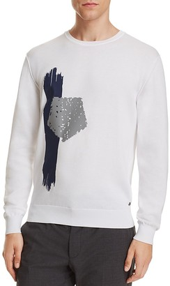 Z Zegna Placed Print Sweater $445 thestylecure.com