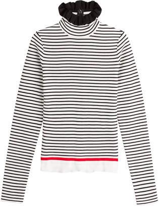 MSGM Striped Cotton Turtleneck Pullover