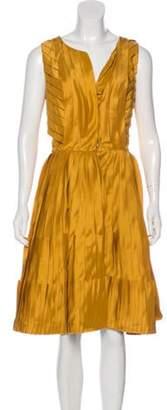 Oscar de la Renta Pleated Silk Dress w/ Tags Pleated Silk Dress w/ Tags