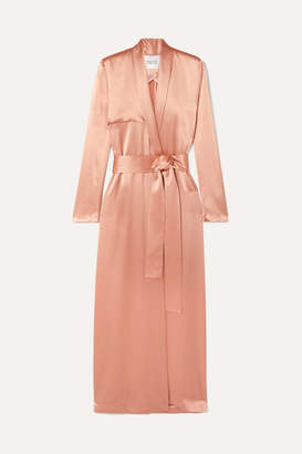 Galvan Satin Trench Coat - Blush