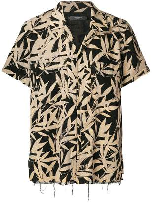 Amiri leaf-print shrot sleeve shirt