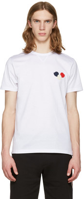 Moncler White Embroidered T-Shirt $150 thestylecure.com