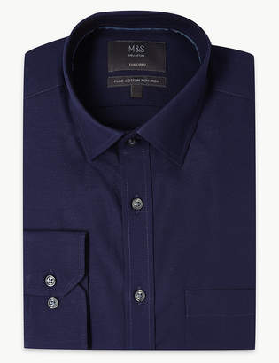 Marks and Spencer Pure Cotton Non-Iron Oxford Shirt