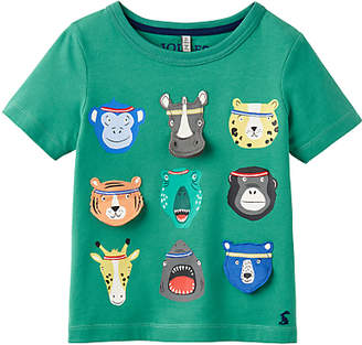 Joules Little Joule Boys' Chomp Animal T-Shirt, Green