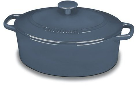 Cuisinart 5.5-qt. Oval Enameled Chef's Classic Enameled Cast Iron Covered Casserole, Provencal Blue