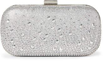 Jessica McClintock Silver Emme Sparkle Convertible Clutch