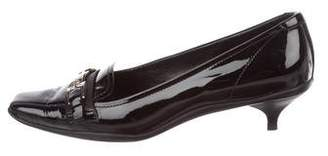 Prada Sport Patent Leather Buckle-Accented Pumps