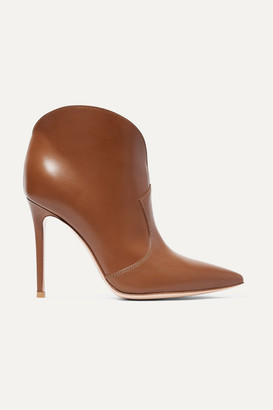 Gianvito Rossi Mable 105 Leather Ankle Boots - Brown