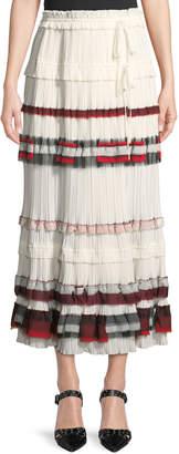 3.1 Phillip Lim Tiered Pleated Midi Skirt