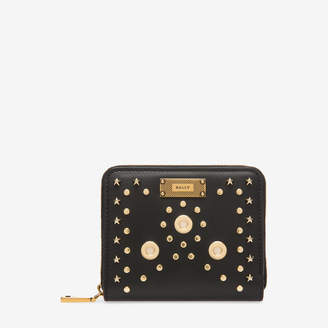 Bally Lafton Suzy Black, Women's calf leather wallet in black