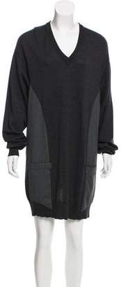 Maison Margiela V-Neck Sweater Dress