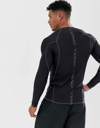 Logo Skins long sleeve rash guard in black