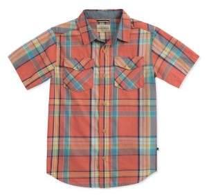 Lucky Brand Boy's Short Sleeve Plaid Shirt